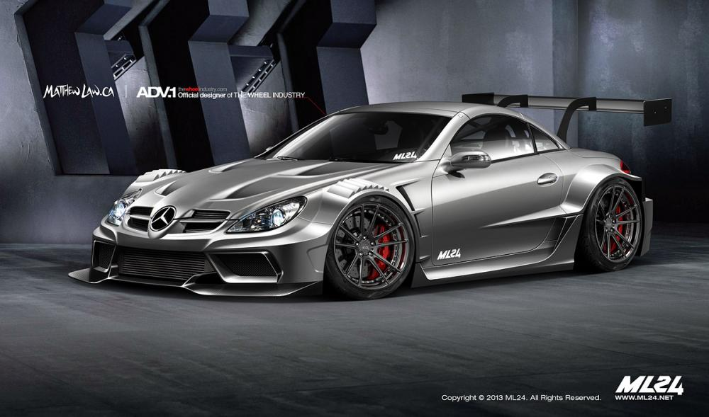 Wide body kit ps garage for Mercedes benz body kit