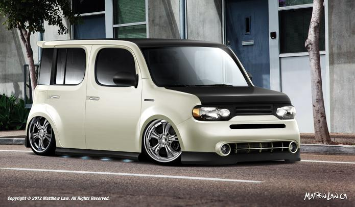 loganbuilt nissan cube at 2012 sema show ps garage. Black Bedroom Furniture Sets. Home Design Ideas
