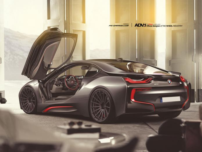 Bmw I8 On Adv 1 Wheels Ps Garage Automotive Design Rendering