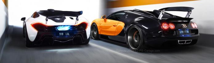 the race - mclaren p1 vs bugatti veyron vitesse | ps-garage