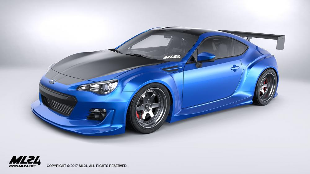 Subaru Sti Price 2017 >> ML24 Subaru BRZ Version 2 Wide Body Kit Official Release | Ps-Garage Automotive Design ...