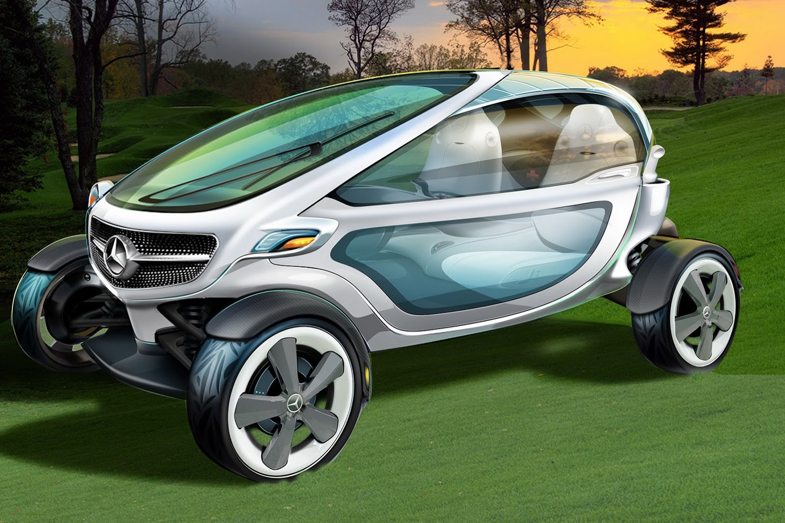 Mercedes benz vision golf cart ps garage automotive for How much is the mercedes benz golf cart