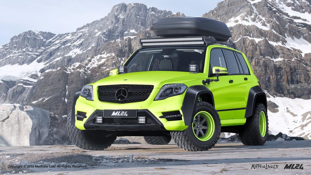 2015 ml24 mercedes benz glk x204 wide body kit ps garage for Mercedes benz glk350 amg