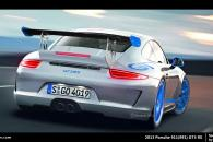 Porsche GT3RS 991 Rear View Speculative Render Spyshot Leak